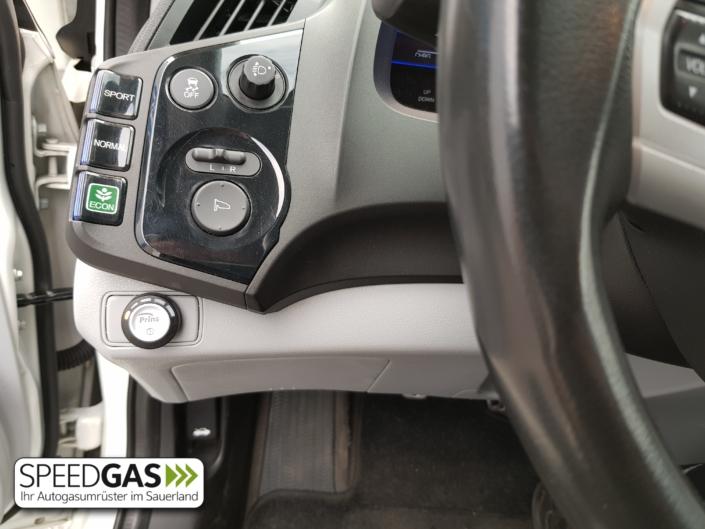 Honda CRZ Hybrid Umschalter und Tankanzeige